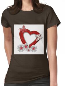 Love is like butterfly flutters .  Womens Fitted T-Shirt