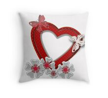 Love is like butterfly flutters .  Throw Pillow