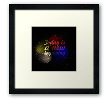 """Today is a new beginning """"Motivational Quote"""" (Squre) Framed Print"""