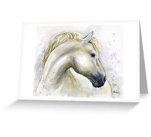 Horse Watercolor Painting Greeting Card