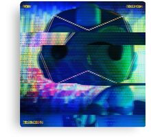Mega Man Glitch art Canvas Print