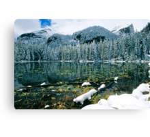 Early Snow at Nymph Lake Canvas Print