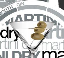 Martini Dry recipe Sticker