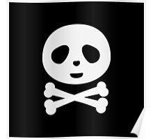 Kawaii Panda pirate skull Poster