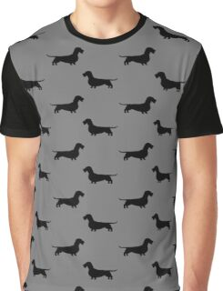 Wire Haired Dachshund Silhouette(s) Graphic T-Shirt