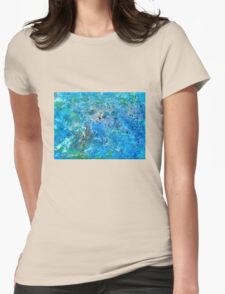 Seattle Seahawks Inspired 'Rain Painting' Womens Fitted T-Shirt