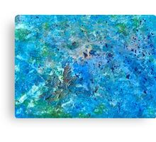 Seattle Seahawks Inspired 'Rain Painting' Canvas Print