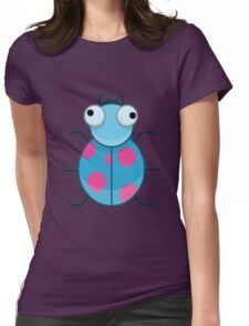 Funny Colorful Cute Little Bug Womens Fitted T-Shirt
