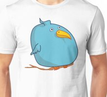 Fat Blue Bird (Cartoon Art) Unisex T-Shirt