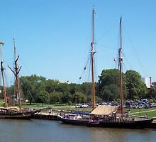 Pride of Baltimore II and Highlander Sea by Francis LaLonde