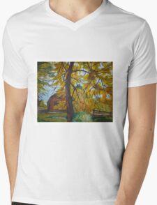 Old Country Barn Mens V-Neck T-Shirt