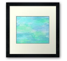 Blue Green Watercolor Texture Framed Print