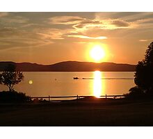 Sunset on Lake Champlain Photographic Print