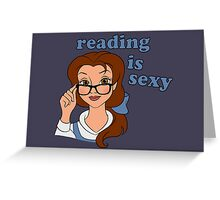 Reading is Sexy Greeting Card