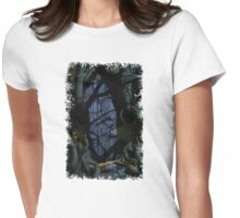 Fantasy Forest Door Womens Fitted T-Shirt
