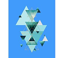 Death by musicGeometric Compilation in Aqua Photographic Print