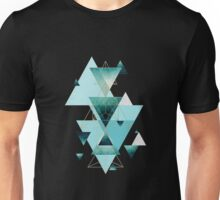 Death by musicGeometric Compilation in Aqua Unisex T-Shirt