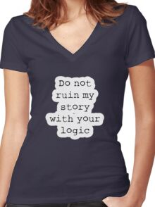 What Richard Castle Said Women's Fitted V-Neck T-Shirt