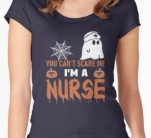 Halloween T-shirt You Can't Scare Me I'm a NURSE Women's Fitted Scoop T-Shirt