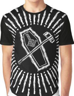 SQUARE HAMMER COFFIN - super sloppy white/black background Graphic T-Shirt