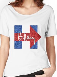 Hillary Signature Logo Women's Relaxed Fit T-Shirt