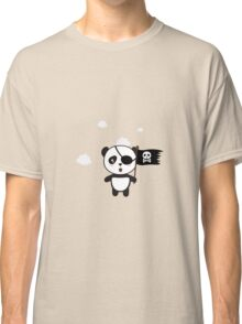 Pirate Panda with Flag Classic T-Shirt