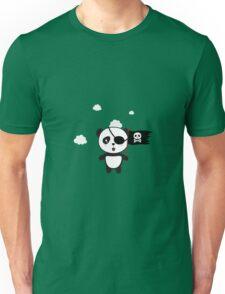 Pirate Panda with Flag Unisex T-Shirt