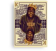 Hip Hop King -- Biggie Canvas Print
