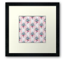 Pattern with bouquets Framed Print