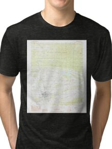 USGS TOPO Map Arkansas AR Waldron 259805 1983 24000 Tri-blend T-Shirt