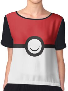 Pokemon Ball Shirt Chiffon Top