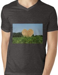 heart hay in the countryside Mens V-Neck T-Shirt