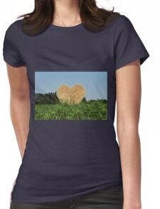 heart hay in the countryside Womens Fitted T-Shirt