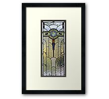 Art-deco glass Framed Print
