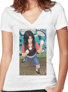 You Wanna Dance? Let's Dance Women's Fitted V-Neck T-Shirt