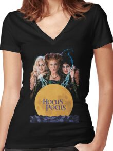 Hocus Pocus Women's Fitted V-Neck T-Shirt