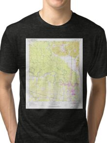 USGS TOPO Map Arkansas AR Falls Chapel 258435 1950 24000 Tri-blend T-Shirt
