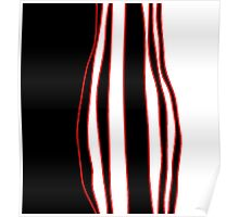 White, red and black Poster