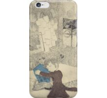 The Doctor Hugging a Tardis iPhone Case/Skin