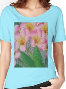 flowers pink Women's Relaxed Fit T-Shirt
