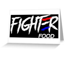 Fighter Food Greeting Card