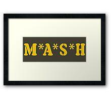 MASH Framed Print