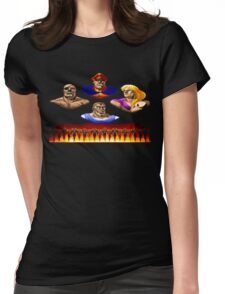 Street Fighter 2 End Scene Womens Fitted T-Shirt