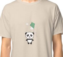 Panda with colorful kite Classic T-Shirt