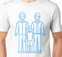 Gay Dads with Son Unisex T-Shirt