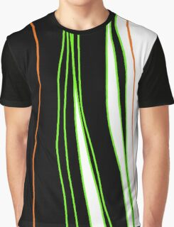 Green and orange lines   Graphic T-Shirt