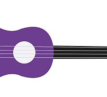 Tropical Ukulele Purple by Melissa Park