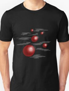 Shiny Red Planets Unisex T-Shirt