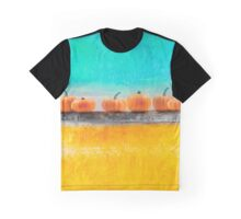 Pumpkins on a Wall Graphic T-Shirt