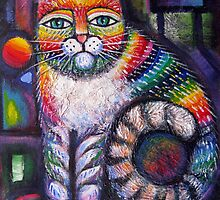Rainbow cat II by Karin Zeller